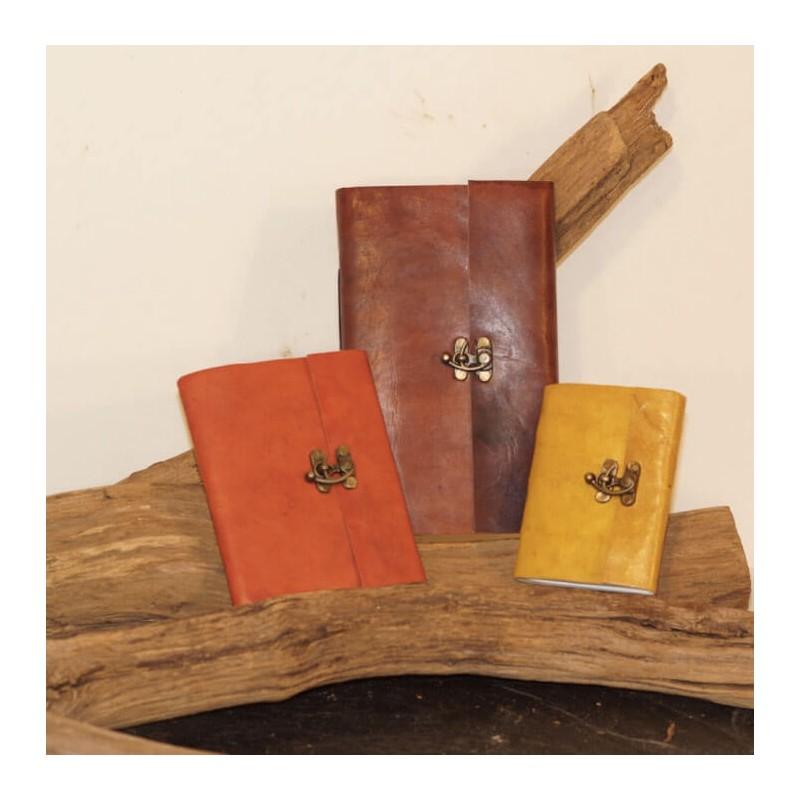 carnet cuir bloque-note